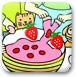给草莓蛋糕填颜色