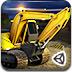 3D重型挖掘机停靠