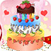 五彩的婚礼蛋糕
