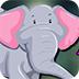可爱的大象逃脱