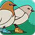 卡通鸽子拼图