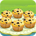 可口的蓝莓松饼
