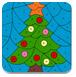 圣诞树的填色