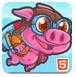 粉红火箭猪
