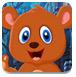 救援卡通棕熊