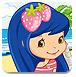 草莓女孩沙滩玩耍
