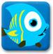 蓝鱼吃小鱼