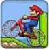 卡通人物自行车赛