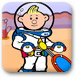 宇航員打網球