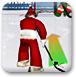 圣誕老人打冰球