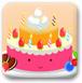 可爱笑脸小蛋糕