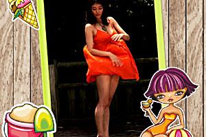 美女 裙子/分享小游戏到: