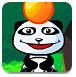 小熊猫吃橘子